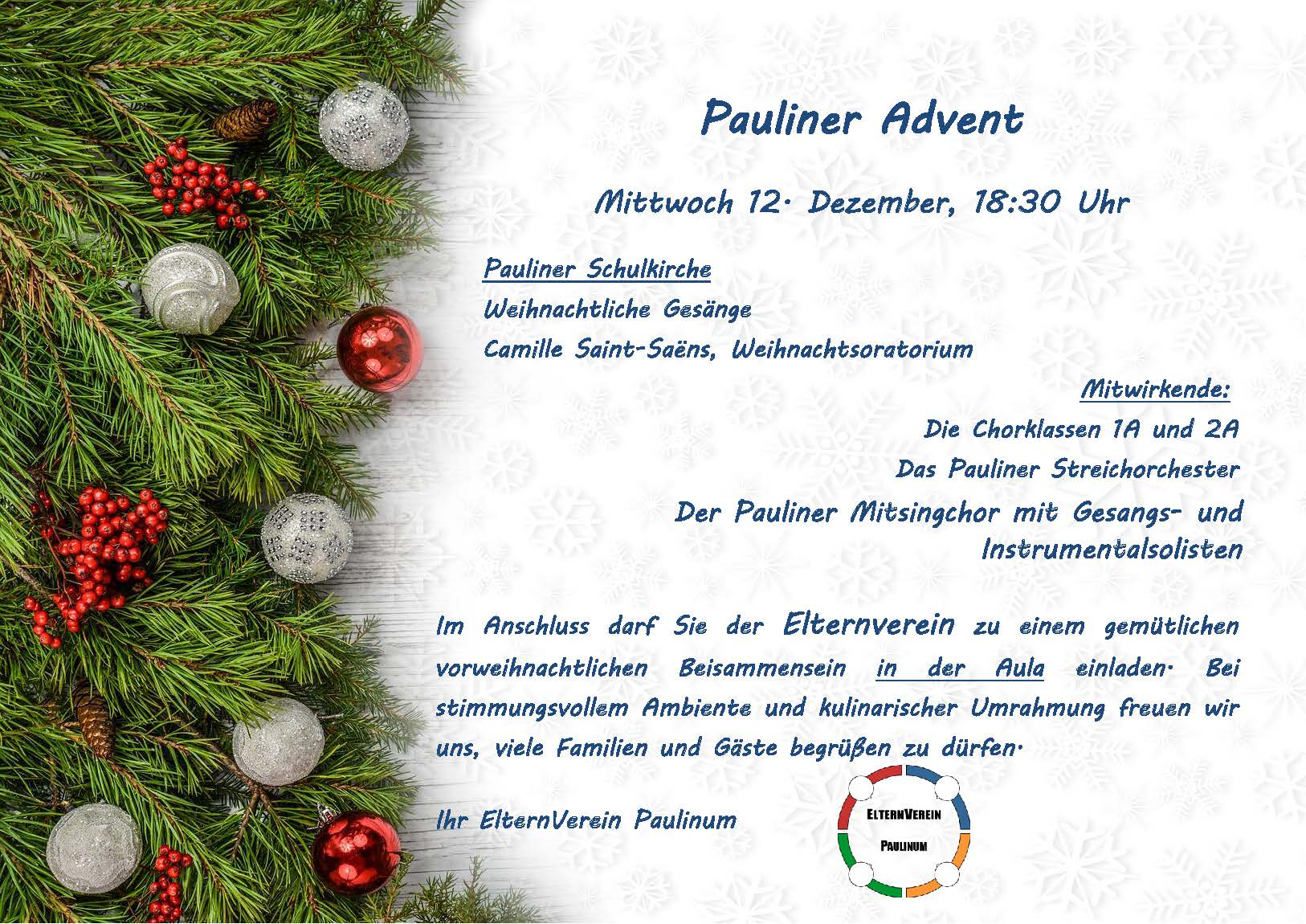 Einladung Pauliner Advent 2018 web